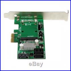 NEW! Startech. Com 3 Port Pci Express 2.0 Sata Iii 6 Gbps Raid Controller Card With
