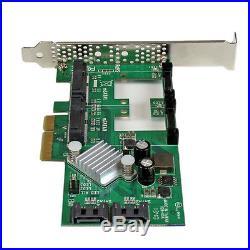 NEW! Startech PEXMSATA3422 2 Port Pci Express 2.0 Sata Iii 6Gbps Raid Controlle