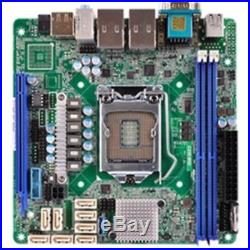 New ASRock Motherboard C236 WSI Xeon E3-1200v5 C236 DDR4 SATA PCI Express D-SUB/