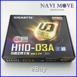 New GIGABYTE GA-H110-D3A DDR4 LGA 1151 H110 6GPU MINING MOTHERBOARD