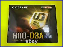 New GIGABYTE GA-H110-D3A LGA 1151 DDR4 6 PCIE SATA 6Gb/s USB 3.1 ATX