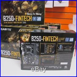 New Gigabyte GA-B250-FINTECH LGA1151 Intel ATX 12 PCIe 3.0 12 GPU Motherboard