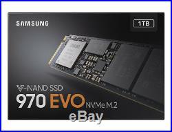 Official Samsung 970 EVO V-Nand NVME PCIE M. 2 1TB PCI Express MZ-V7E1T0BW New