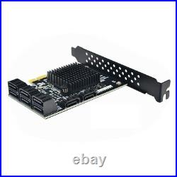 PCI-E SATA 2X 4X 8X 16X Cards to SATA 3.0 6-Port SATA III 6Gbps with Date Cable