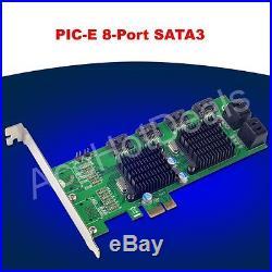 PCI-E SATA3.0 expansion card 8 port SATA3 SATA III 6G Marvell double chip