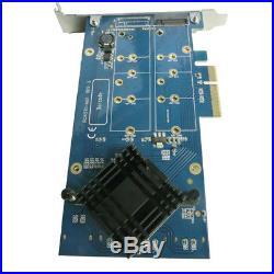 PCI-E x4 SATA RAID Card Controller PCIe to SATA3 NGFF M. 2 Adapter Indudtrial