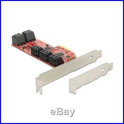 PCI Expr Card Delock 10x SATA III int +Low Profile scheda pci-express 89384