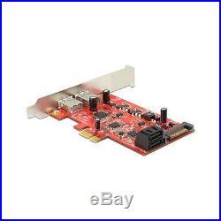 PCI Expr Card Delock 2x USB3.0 ext + 2x SATA III int +LowPro 89389