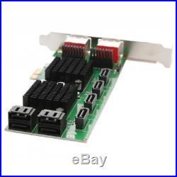 PCI-Express 2.0 x1, 8-Port (1E7I / 2E6I / 3E5I / 4E4I or 8I) SATA 6G Non-Raid