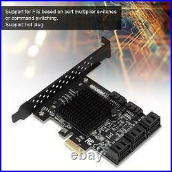 PCIe PCI Express to 6G SATA3.0 8-Port SATA III Expansion Controller Card Adapter