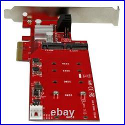 PEXM2SAT3422 StarTech. Com 2x M. 2 NGFF SSD RAID Karte plus SATA III Ports PCI D
