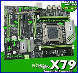 PLEXHD X79 Turbo motherboard LGA2011 ATX USB3.0 SATA3 PCI-E NVME M. 2 SSD New