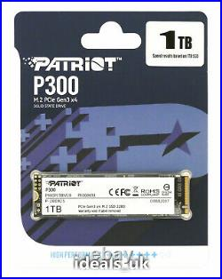 Patriot P300 Series 1TB M. 2 (PCIe 3.0 x4) (P300P1TBM28) NVMe Solid Memory Drive