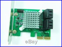 Pex-sat4r 4-port sata 6g pci express 2.0 host adapter pcie ahci sata iii