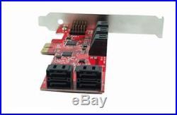 Pex10-sat 10 port sata 6g pci express host adapter card ahci 6 gbps sata iii