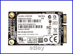 SANDISK SSDX100 64GB Mini PCIe PCI-E SSD X100 SATA III 6Gb/s Solid State Drive
