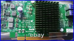 SUPERMICRO AOC-S3008L-L8I (LSI 9300-8i) with2 CABLES SAS 12Gb/s HBA ZFS PC TRUENAS