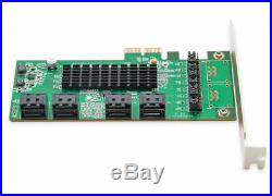 SYBA SI-PEX40071 8 Internal SATA III Ports PCI-Express Card, PCI-e x2 Slot, Spec
