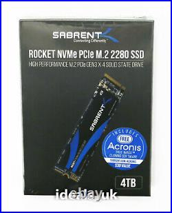 Sabrent Rocket 4TB M. 2 (PCIe 3.0 x4) (SB-ROCKET-4TB) NVMe Solid State Drive