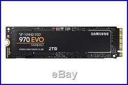 Samsung 2TB 970 EVO NVMe M. 2 PCI Express Solid State DriveMZ-V7E2T0BWNewBlack