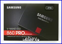 Samsung 860 PRO 2TB SSD 2.5 SATA III Disk (MZ-76P2T0) Solid State Drive