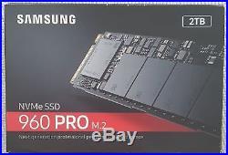 Samsung 960 Pro 2TB MZ-V6P2T0BW M. 2 2280 NVMe SSD PCI-Express 3.0 x4 NEW NEU
