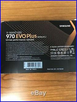 Samsung 970 EVO Plus 1TB Internal PCI Express 3.0 x4 (NVMe) Solid State Drive