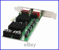 Sd-pex40105 8-port sata-3 6g dual chipset pci-e 2.0 x1 slot controller card