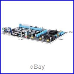 Stable 6 GPU Ext ATX Motherboard PCI E Riser fr Bitcoin Mining Rig Ethereum A8W2