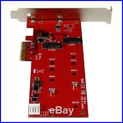 StarTech 2x M. 2 NGFF PCI Express SATA III SSD Controller Card Adapter