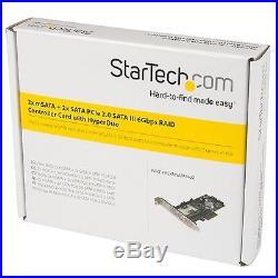StarTech. Com 2 Port PCI Express 2.0 SATA III 6Gbps RAID Controller Card w. New