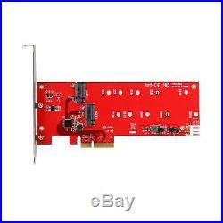 StarTech. Com 2x M. 2 SSD Controller Card PCIe PCI Express M. 2 SATA III C