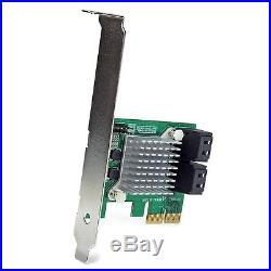 StarTech. Com 4 Port PCI Express SATA III 6Gbps RAID Controller Card PCIe. New