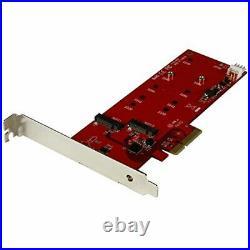 Startech 2x M. 2 SATA SSD Tarjeta Controladora Pcie PCI Express III C