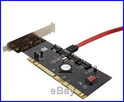 Syba 4-Port SATA I/II Raid PCI-X Controller Card with Silicon Image SiL3124