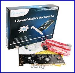 Syba 4-Port SATA I/II Raid PCI-X Controller Card with Silicon Image SiL3124 Chip