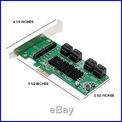 Syba SATA III 8 Port PCI-E 2.0 Controller Card 8-port Marvell 88SE9705