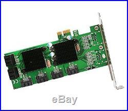 Syba SD-PEX40104 PCI-Express 8-Port Internal SATA 6Gbps Dual Chipset Pci-E V2.0