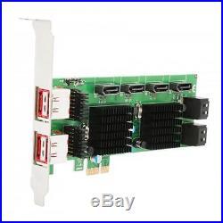 Syba SD-PEX40105 8-Port SATA III and eSATA 6G PCI-E 2.0 x1 RAID Cards