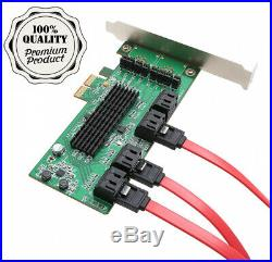 Syba SI-PEX40071 SATA III 8 Port PCI-E 2.0 Controller Card, Green